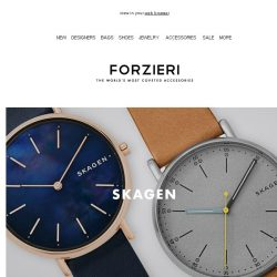 [Forzieri] New in: Skagen, Fossil, Armani Exchange