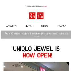 [UNIQLO Singapore] Celebrate Jewel's opening with these specials!