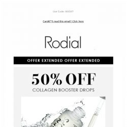 [RODIAL] Offer Extended: 50% Off Collagen Drops