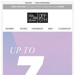 [Saks OFF 5th] BCBGeneration on your mind? + Up to 75% off is a GREAT excuse to shop...