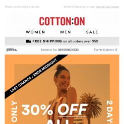 [Cotton On] LAST CALL 👗 30% OFF ALL Dresses 👗