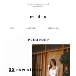 [MDS] 30 New Styles, Available For Preorders Online! 😍