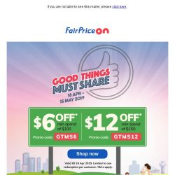[Fairprice] Massive May Deals! 💰