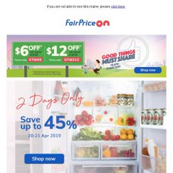 [Fairprice] Weekend Sale: 2 Days only!