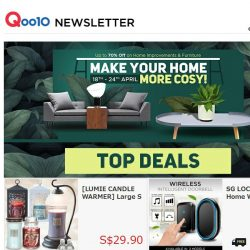 [Qoo10] The Furniture Sale You Have Been Waiting For - 70% off Home Improvements & Beautiful, Affordable Furniture