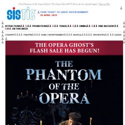 [SISTIC] [The Phantom of the Opera] Hurry! The Opera Ghost's flash sale has already begun!