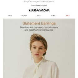 [LUISAVIAROMA] Steal the scene in statement earrings!