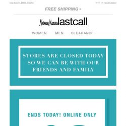 [Last Call] A special treat: extra 40% off everything online
