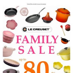 [Le Creuset] Le Creuset Family Sale - up to 80% off