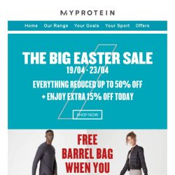 [MyProtein] The Big Easter Sale Ends Soon! 🐣