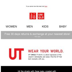 [UNIQLO Singapore] Loosen up with fun UTs paired with relaxed fit bottoms!