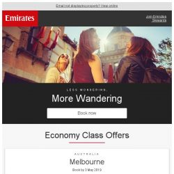 [Emirates] Wander further with rare fares from $569* return