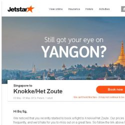 [Jetstar] Still want to go to Knokke/Het Zoute?