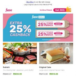 [Fave] Want a piece of this sweet deal? 🍰