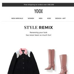 [Yoox] 👗 👜 👠 Style Remix: renew your look with up to 30% OFF
