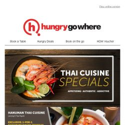 [HungryGoWhere] Sawadee krap! 1-for-1 on Signature Dishes, Set Menus, and more Thai cuisine treats