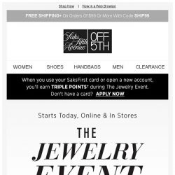 [Saks OFF 5th] Up to 70% off Roberto Coin, Ippolita & more!