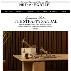 [NET-A-PORTER] You'll love these elegant, strappy shoes