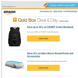 [Amazon] Save up to 46% on TOURIT Cooler Backpack