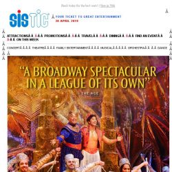 [SISTIC] See the biggest Broadway spectacular ever to come to Singapore, Disney's Aladdin!