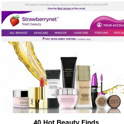 [StrawberryNet] Up to 70% Off 40 Hot Beauty Finds