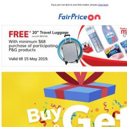 [Fairprice] Fantastic gifts and deals this week! 👏