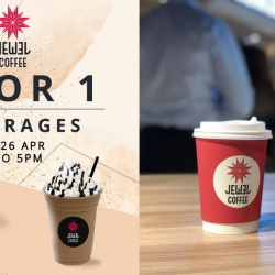 Jewel Coffee: Enjoy 1-for-1 Beverage on Weekdays!
