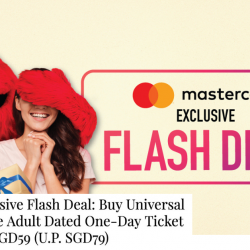 Universal Studios Singapore: Buy Adult Tickets at Child Rate of SGD59 (U.P. SGD79) with MasterCard!