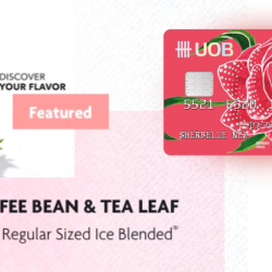 The Coffee Bean & Tea Leaf®: Get S$3 OFF Any Regular Sized Ice Blended® Drink with UOB Lady's Card!