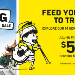 Scoot: GTG Sale with Sale Fares from SGD52 to 14 Newest Destinations!