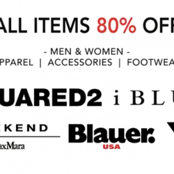 On The List: Flash Sale with 80% OFF All Items from Y3, Dsquared2, iBlues, Blauer & Weekend Max Mara!