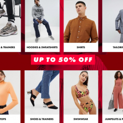 ASOS: Sale with Up to 50% OFF Adidas, Calvin Klein, Champion, Nike & More!