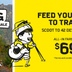 Scoot: Got-to-Go Fares from $69 to Over 40 Destinations Including Osaka, Tianjin, Hanoi & More!