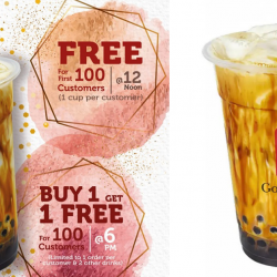 Gong Cha: FREE Brown Sugar Fresh Milk with Pearl & Buy 1 Get 1 FREE Offer at Each Gong Cha Outlet on Labour Day!