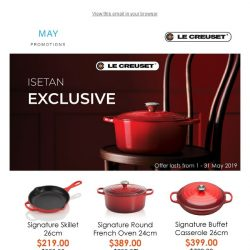 [Le Creuset] Have you checked out our Isetan Exclusive promotion?