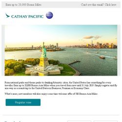 [Cathay Pacific Airways] Fly to the United States for a rewarding summer holiday
