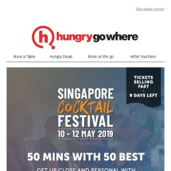 [HungryGoWhere] Meet selected World's 50 Best bartenders next weekend + get a complimentary cocktail shaker set!