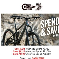 [Chain Reaction Cycles] Limited Time Only: £500 off a New 🚲