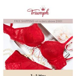 [Triumph] Mother's Day Special Selected Styles at $35!