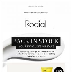 [RODIAL] Back In Stock: The Best-Selling Bundles ✨