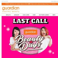 [Guardian]  LAST DAY to enjoy BUY 1 FREE 1 on ALL Facial Masks!