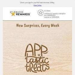 [Starbucks] Exclusive weekly treats, when you pay with your Starbucks Singapore app. 🎁