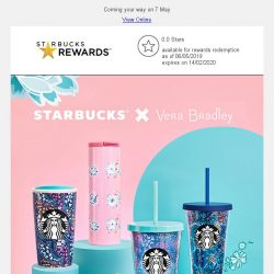 [Starbucks] Welcome to the colorful world of Starbucks x Vera Bradley