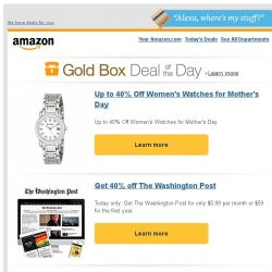 [Amazon] Up to 40% Off Women's Watches for Mother's Day
