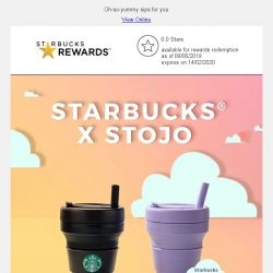 [Starbucks] Starbucks® x Stojo collapsible cup is back in new colors