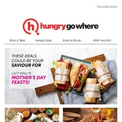 [HungryGoWhere] Scrambling for a last minute Mother's Day feast? These dining treats could save your day 