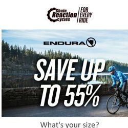 [Chain Reaction Cycles] Endura. Your size. 55% Off ➡