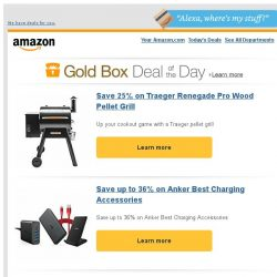 [Amazon] Save 25% on Traeger Renegade Pro Wood Pellet Grill