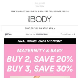 [Cotton On] LAST CHANCE Save 30% Maternity + Baby