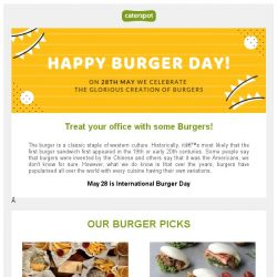 [CaterSpot] Celebrate National Burger Day in the office this year!